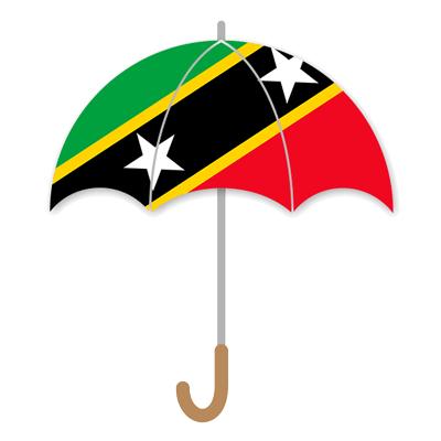 セントクリストファー・ネーヴィスの国旗-傘