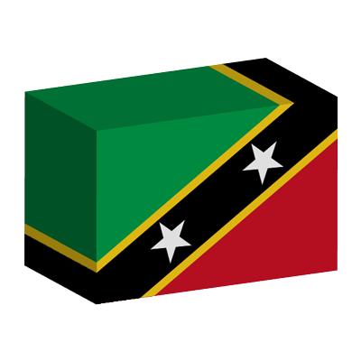 セントクリストファー・ネーヴィスの国旗-積み木