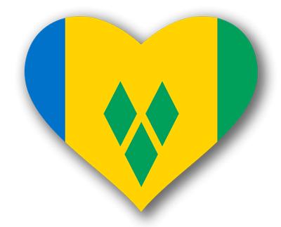セントビンセント・グレナディーン諸島の国旗-ハート