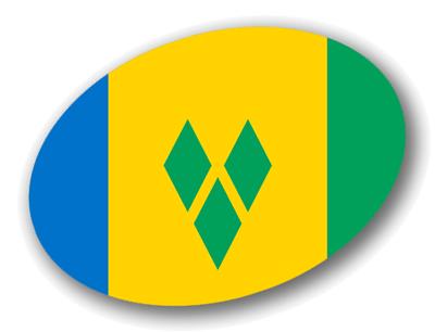 セントビンセント・グレナディーン諸島の国旗-楕円