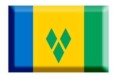 セントビンセント・グレナディーン諸島の国旗-板チョコ
