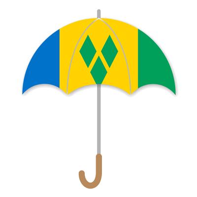 セントビンセント・グレナディーン諸島の国旗-傘