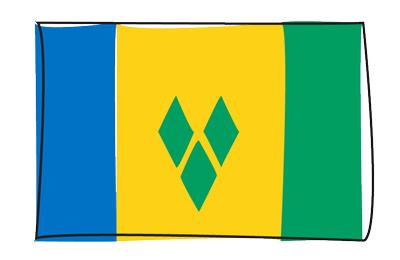 セントビンセント・グレナディーン諸島の国旗-グラフィティ