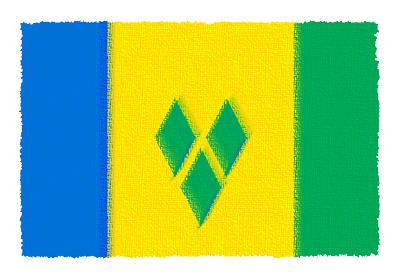 セントビンセント・グレナディーン諸島の国旗-パステル