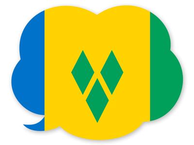 セントビンセント・グレナディーン諸島の国旗-吹き出し
