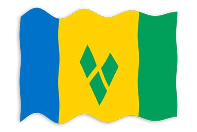 セントビンセント・グレナディーン諸島の国旗-波