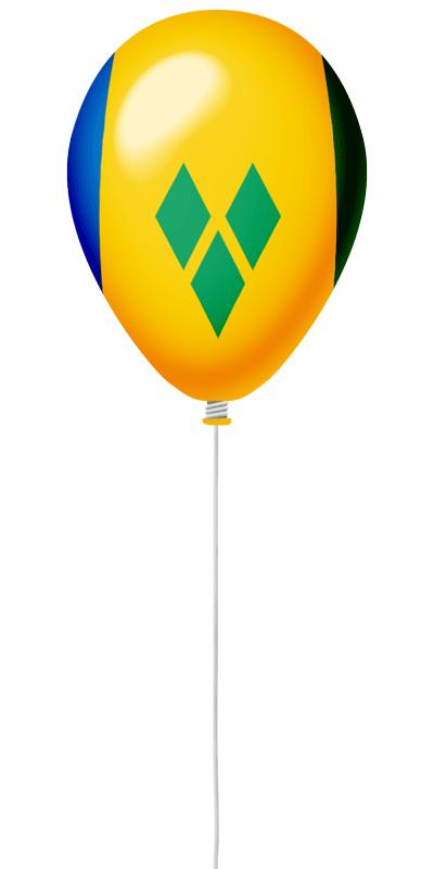 セントビンセント・グレナディーン諸島の国旗-風せん