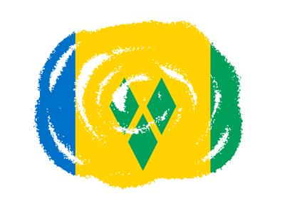 セントビンセント・グレナディーン諸島の国旗-クラヨン2