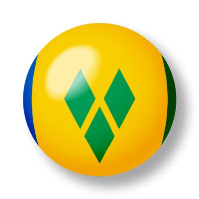 セントビンセント・グレナディーン諸島の国旗-ビー玉