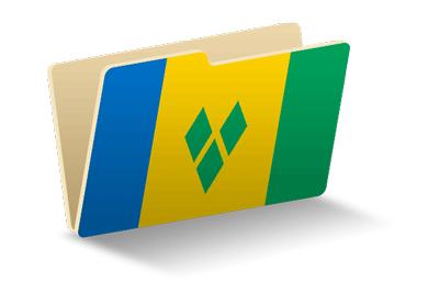 セントビンセント・グレナディーン諸島の国旗-フォルダ