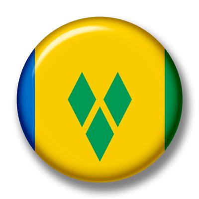 セントビンセント・グレナディーン諸島の国旗-缶バッジ