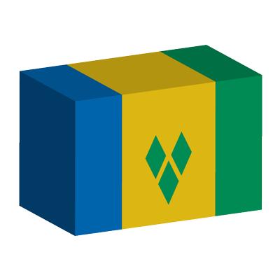 セントビンセント・グレナディーン諸島の国旗-積み木
