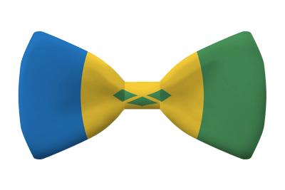 セントビンセント・グレナディーン諸島の国旗-蝶タイ