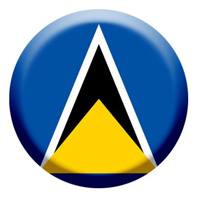 セントルシアの国旗-コイン