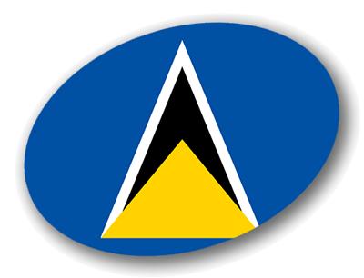 セントルシアの国旗-楕円