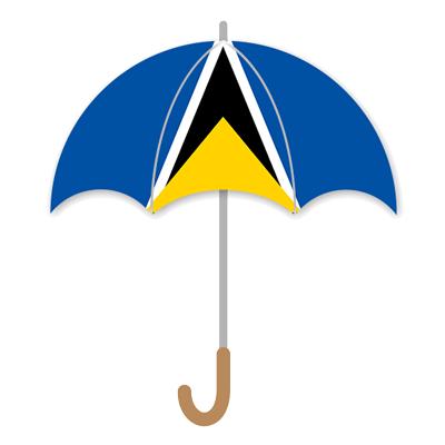 セントルシアの国旗-傘