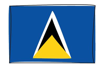 セントルシアの国旗-グラフィティ