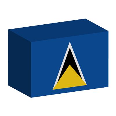 セントルシアの国旗-積み木