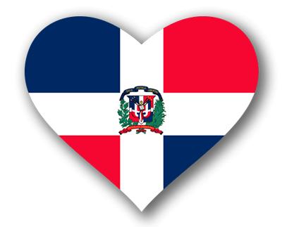 ドミニカ共和国の国旗-ハート