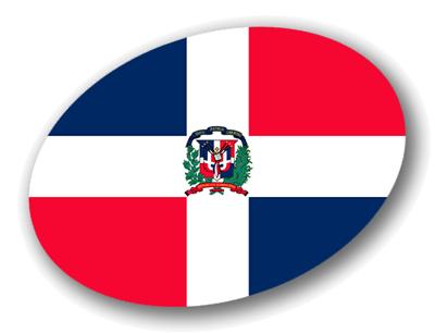 ドミニカ共和国の国旗-楕円