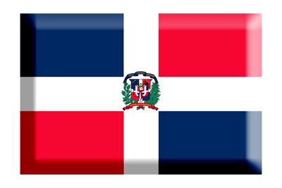 ドミニカ共和国の国旗-板チョコ