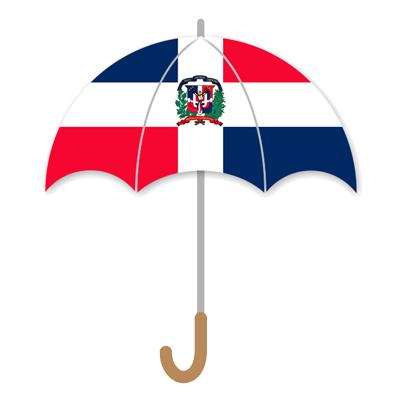 ドミニカ共和国の国旗-傘