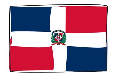ドミニカ共和国の国旗-グラフィティ