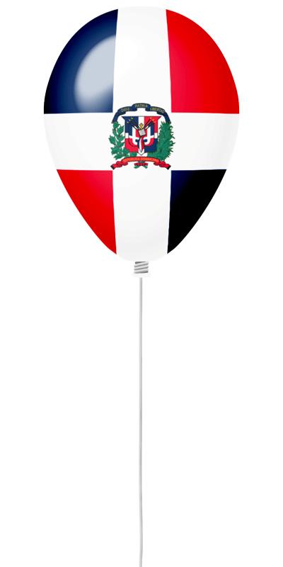 ドミニカ共和国の国旗-風せん