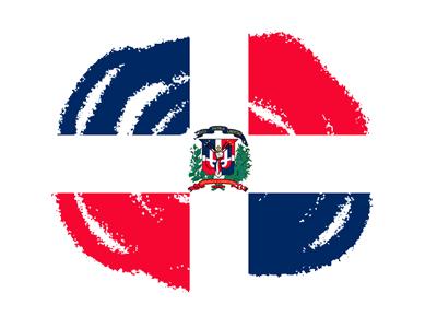 ドミニカ共和国の国旗-クラヨン2