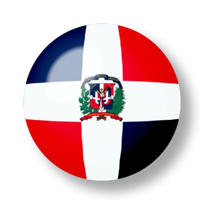 ドミニカ共和国の国旗-ビー玉