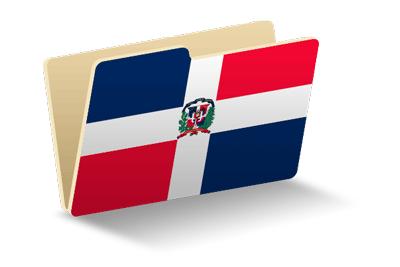 ドミニカ共和国の国旗-フォルダ