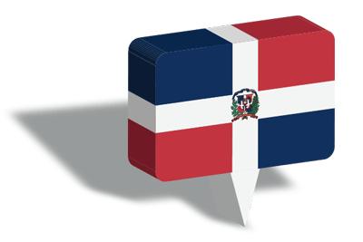 ドミニカ共和国の国旗-マップピン