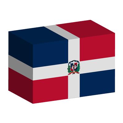 ドミニカ共和国の国旗-積み木