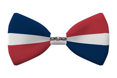 ドミニカ共和国の国旗-蝶タイ