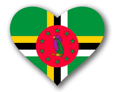 ドミニカ国の国旗-ハート