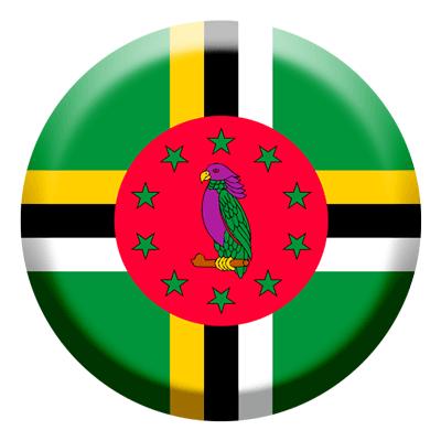 ドミニカ国の国旗-コイン