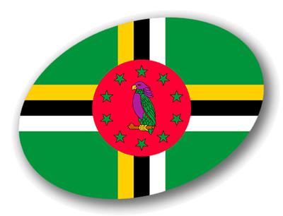 ドミニカ国の国旗-楕円