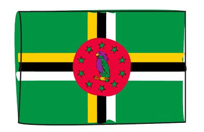 ドミニカ国の国旗-グラフィティ