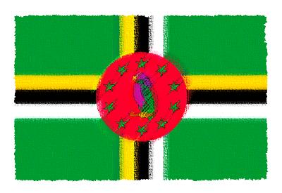 ドミニカ国の国旗-パステル