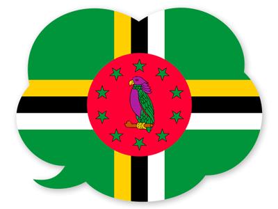 ドミニカ国の国旗-吹き出し