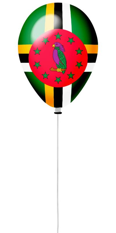 ドミニカ国の国旗-風せん