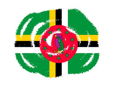 ドミニカ国の国旗-クラヨン2