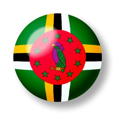 ドミニカ国の国旗-ビー玉