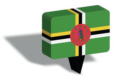 ドミニカ国の国旗-マップピン