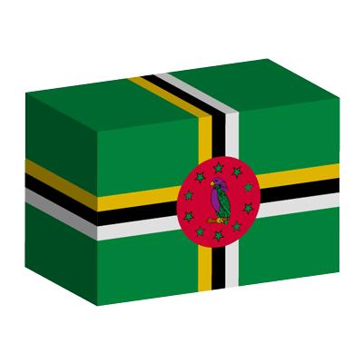 ドミニカ国の国旗-積み木