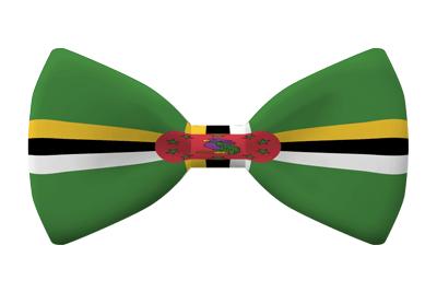 ドミニカ国の国旗-蝶タイ