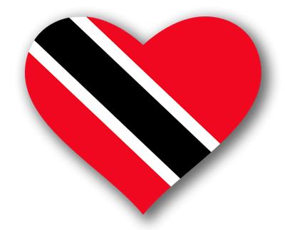トリニダード・トバゴ共和国の国旗-ハート