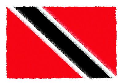 トリニダード・トバゴ共和国の国旗-パステル