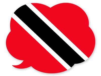 トリニダード・トバゴ共和国の国旗-吹き出し