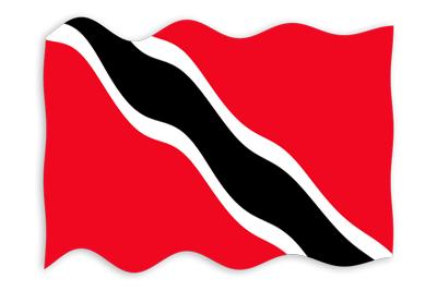 トリニダード・トバゴ共和国の国旗-波